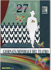 ITALIA - FOLDER 2011 - GIORNATA MONDIALE DEL TEATRO - AL VALORE FACCIALE