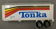"Tonka Truck Trailer Box 18 Wheeler S3205 White with 3 Colors 15"" Pressed Steel"