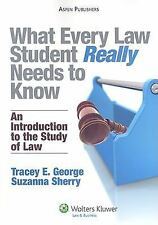 What Every Law Student Really Needs to Know: An Introduction to the Study of La