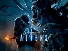 "ALIENS 1986 horror repro custom quad poster 30x40"" Free P&P Sigourney Weaver"