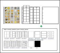 1 Leuchtturm 323463 MÜNZHÜLLEN NH30 NUMIS 25 + weiße ZWL Für Münzen bis 25 mm
