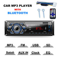 Bluetooth Car Stereo Audio In-Dash FM Receiver MP3 Player SD USB Aux Input 12V