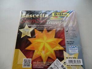 Bascetta Faltstern Weihnachtsstern transparent Papier folia--gelb 32 Blatt
