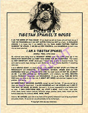 Rules In A Tibetan Spaniel's House