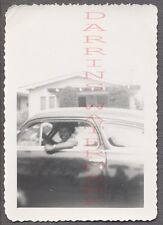 Unusual Vintage Photo Pretty Black Girl in Car Window Relection Art 687685