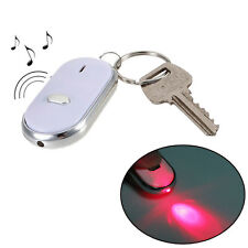 White Led Anti-Lost Key Finder Locator Find Key Whistle Sound Control Keychain
