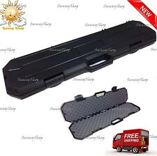 Rifles Gun Hard Case Hunting Locking Padded Carrying Bag Storage Firearms Scope