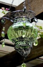Turkish style  Hanging Tea light Candle Holder   (  GREEN  )  BRAND NEW