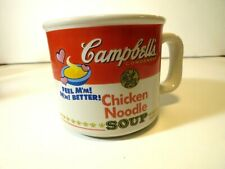 New listing Campbell's 1997 Chicken Noodle Soup Mug Logo Feel M'mm Better!