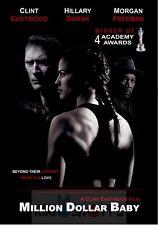 Poster A3 Million Dollar Baby Clint Eastwood Hillary Swank Morgan Freeman 01