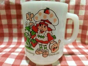 Fire King Strawberry Shortcake Rare Pattern Mug Cup Vintage Very Rare Excellent