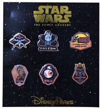 2015 Disney Parks Star Wars The Force Awakens booster set of 6 Pins Rare New NIP