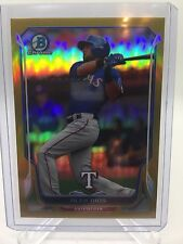 2014 Bowman Chrome Gold Refractor Alex Rios 34/50 Rangers