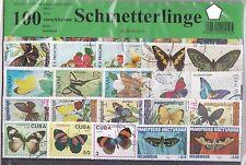 100Briefmarken Schmetterlinge,Lepidoptera,Butterfly,Papillon,Schmetterling Falte