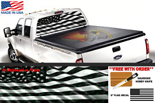 AMERICAN FLAG BLACK & WHITE REAR WINDOW GRAPHIC DECAL PERFORATE Truck Car