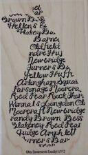 NEW MSE! My Sentiments Exactly! Mounted Wood Rubber Stamp U112 Pear Sentiment