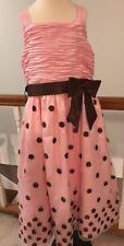 Bonnie Jean Pink Polka Dot Dress Girls Size 16