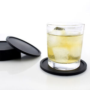 1Pcs Non-slip Silicone Drinking Coaster Holder Cup Coaster Mat Black Place Mats