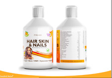Hair Skin & Nails Collagen, Biotin, Coq10,Hyaluron, MSM  500ml Swedish Nutra