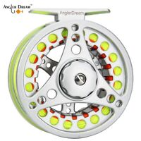 1/2 3/4 5/6 7/8 WT Fly Fishing Reel And Line Combo Aluminum Fly Reel WF Fly Line
