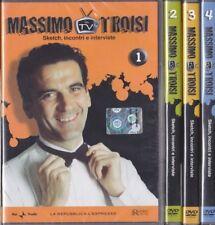 4 Dvd Lotto Stock MASSIMO TROISI IN TV ~ DIARIO TV ~ VOL. 01+02+03+04 completa