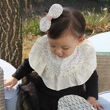 Cute Newborn Baby Bib Frilly Bib Lace Cotton Infant Toddler Handmade Eb227