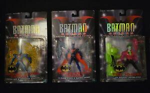 1999 Hasbro Batman Beyond Set of 3; includes rare Future Knight Batman