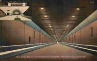 Inside View Allegheny Tunnel On Pennsylvania Turnpike PA 1930's 1940's Postcard