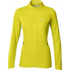 Asics Essentials Womens Running Jacket Yellow Hi Viz Full Zip Large UK 14