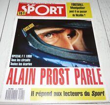 LE SPORT 21 1990 FOOTBALL MONTPELLIER NICOLLIN COUPE F1 PROST QUINON PEUGEOT 605
