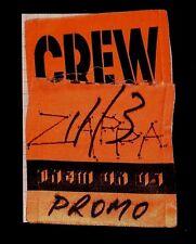 11-3-84 FRANK ZAPPA THEM OR US TOUR AUTHENTIC CREW SLUT PASS STONYBROOK NEW YORK