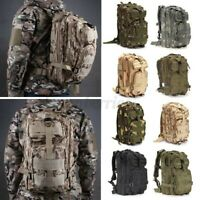 30L Outdoor Military Rucksack Tactical Backpack Camouflage Hiking Camping Bag
