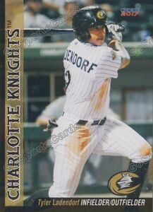 2017 Charlotte Knights Tyler Ladendorf RC Rookie Chicago White Sox