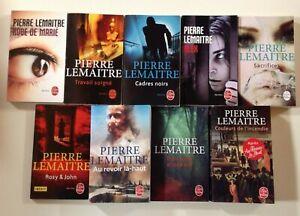9 livres PIERRE LEMAITRE policier romans THRILLER