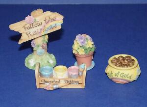CHERISHED TEDDIES * Enesco * Follow The Rainbow * 4 Piece Accessories Set *