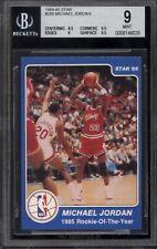 Bgs 9 1984-85 Star #288 Michael Jordan Rookie of Year 9.5 Subs - Highest Graded