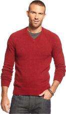 Lucky Brand Sweater Vista V Neck Men Wool Red Orange New Men  XL