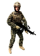 """HM ARMED FORCES 10"""" Soldier Army Military Action toy figure NICE!"""