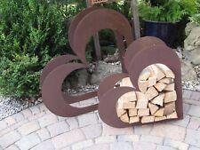 Herz aus Metall - Holz-Regal - Edel-Rost - Garten Terrasse - Liegend - TOLL!!!
