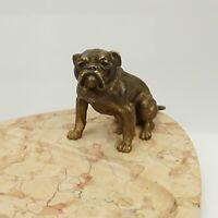 Orig Antique Hund Bulldog Bronze Figur Art Deco Wiener skulptur bergmann ca.1900