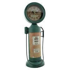 Metal Old Style Retro Gas Pump Mantel Clock by Hometime W2782