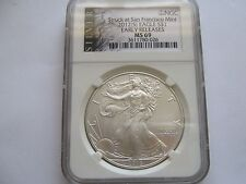 2012 (S)  Silver Eagle , NGC , MS 69 ,Early Release,Struck at San Francisco Mint