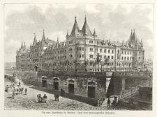 DRESDEN - JOHANNSTADT - JÄGERKASERNE - Holzstich 1882