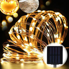 Warm White 72ft 200LED Solar Powered Copper Wire String Fairy Light Xmas Outdoor