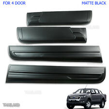 Body Cladding Side Slim 4 Door Matte Black For 2012 2015 2017 Ford Ranger T6 PX2