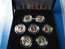 7x COINS / 7 TUGENDEN / THE SEVEN VIRTUES / ITALIEN / LIRE - ETUI & ZERTIFIKAT