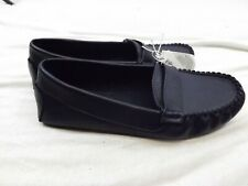 049a277e3e46 NWT OLD NAVY Women's SHOES FLATS LOAFERS 6 M DARK BLUE FAUX LEATHER