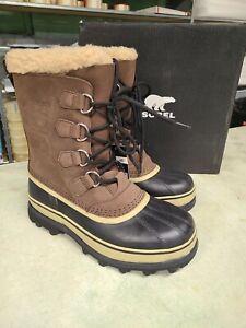 NIB  Sorel Men's Waterproof Caribou Boots Bruno Brown 2019 - Pick Size