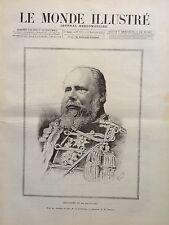 LE MONDE ILLUSTRE 1890 N 1757 LA MORT DU ROI GUILLAUME III DES PAYS-BAS, A LOO.