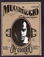 MUCCHIO SELVAGGIO WILD BUNCH 4/1978 RY COODER JOHN FAHEY CHARLIE POOLE FOLK ROCK